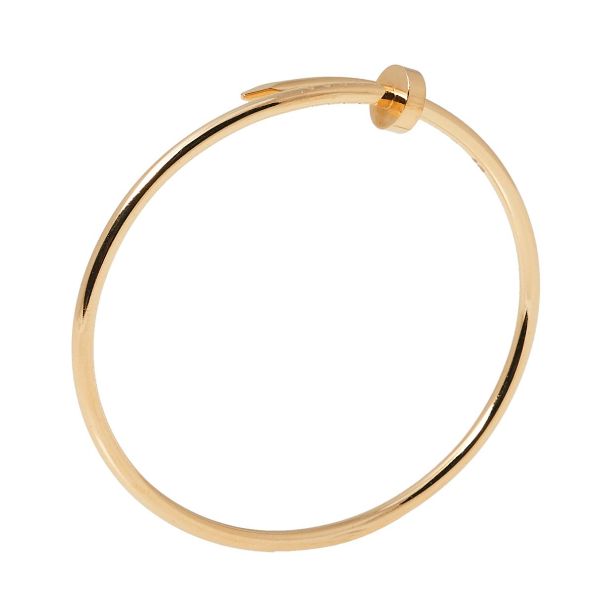 Cartier Juste Un Clou 18K Yellow Gold Narrow SM Bracelet 17