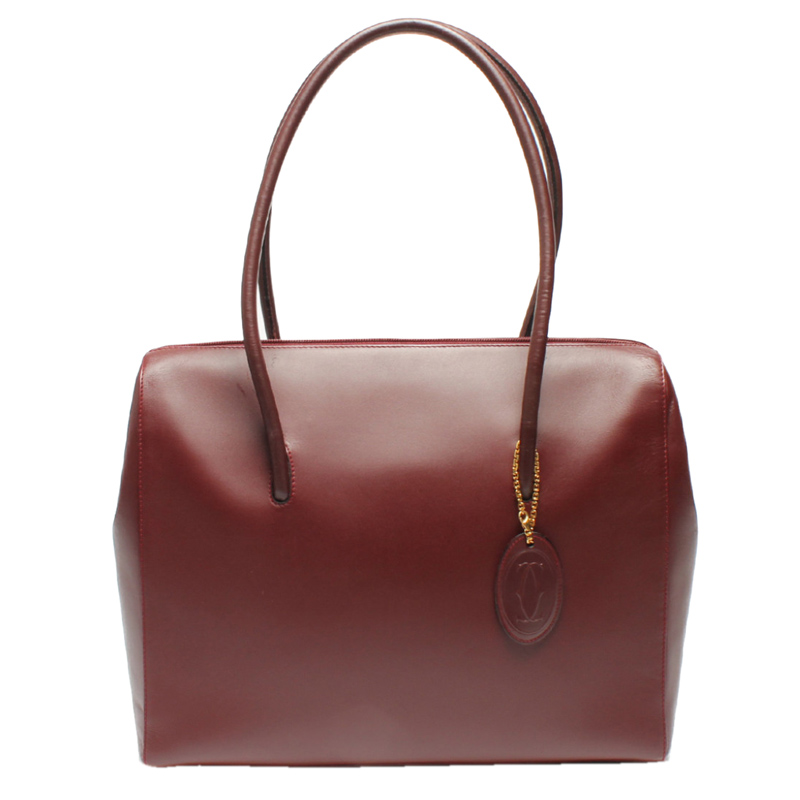 Cartier Red Leather Must Line Shoulder Bag