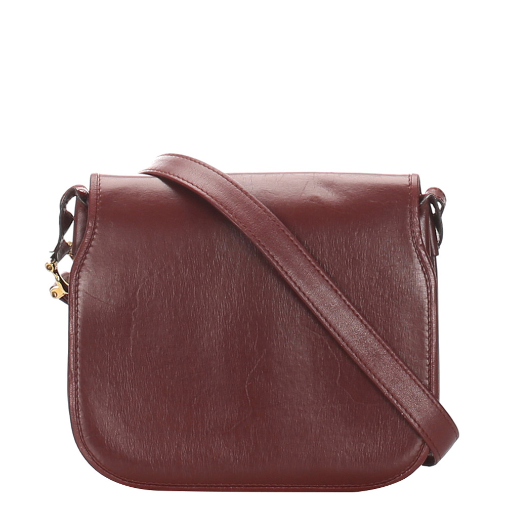 Cartier Red Leather Must de Cartier Crossbody Bag
