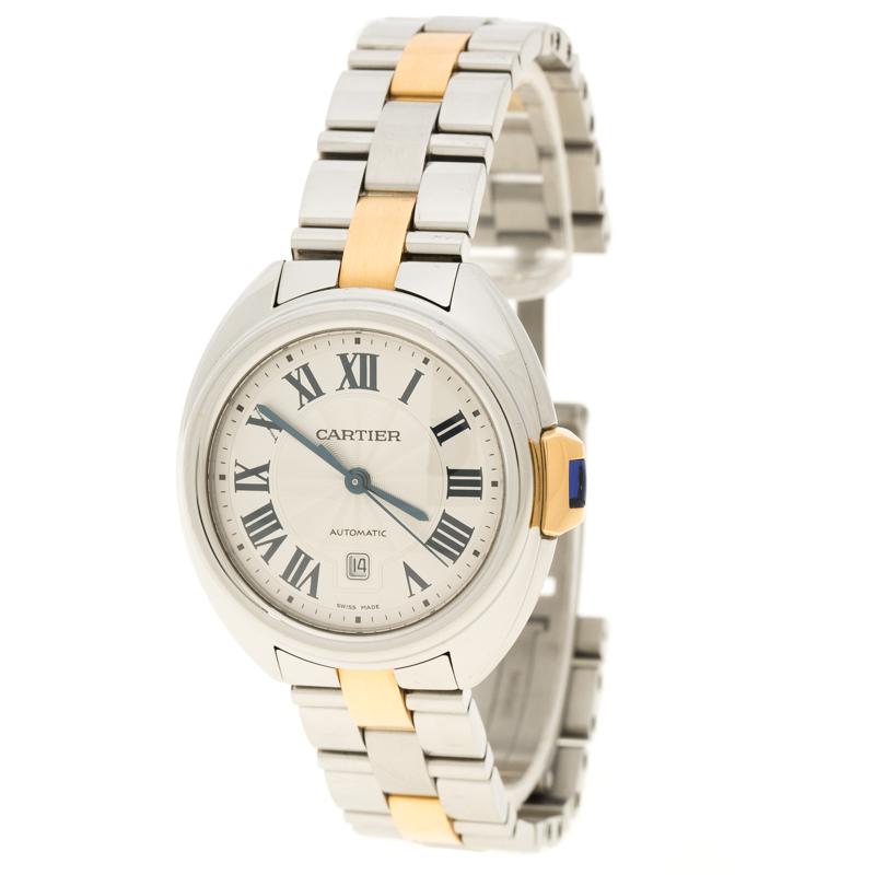 17e32f287 Buy Cartier Stainless Steel Cle De Cartier 3867 Women's Wristwatch ...