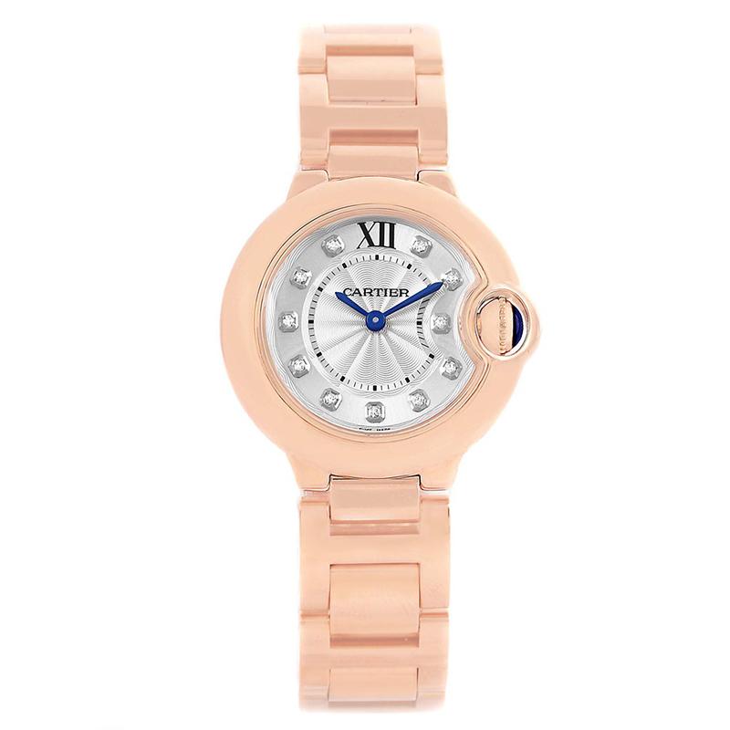 a8b11282c إشتري ساعة يد نسائية كارتييه بالون بلو ذهب وردي عيار 18 28 مم 132423 ...