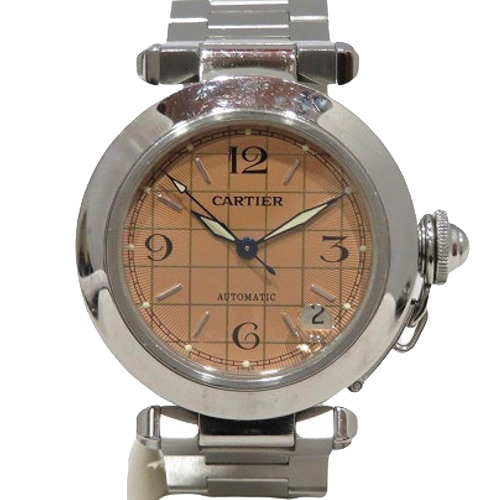 Pre-owned Cartier Automatic Women's Wristwatch 35 Mm In Brown