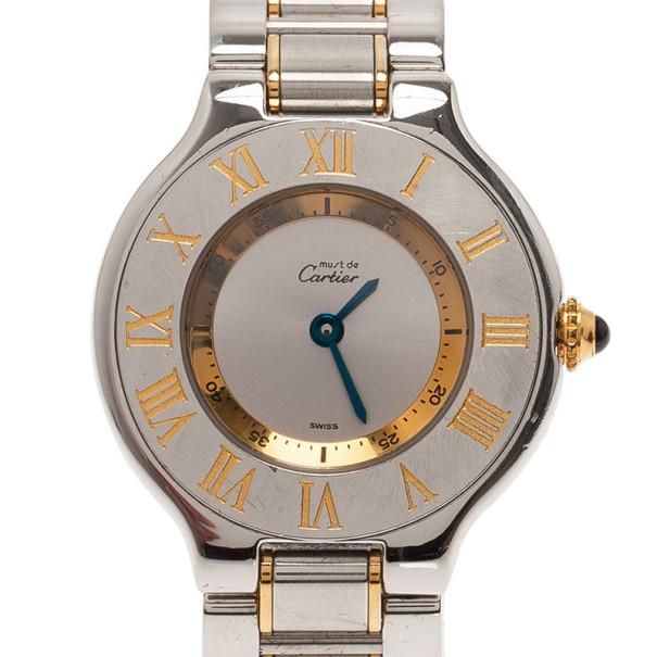 6755768ec إشتري ساعة يد نسائية كارتييه ماست 21 دي كارتييه فولاذ مقاوم للصدأ ...