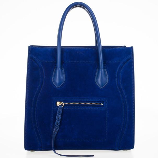 da6d75542250 Buy Celine Electric Blue Suede Phantom Large Bag 29439 at best price ...