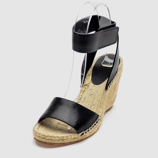 a75faebc2fc ... Celine Black Leather Espadrilles Wedge Sandals Size 37. nextprev.  prevnext