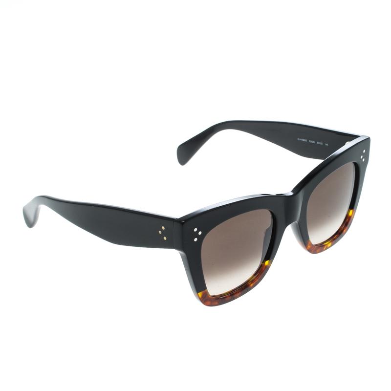 96ed41c7d9b9 Buy Celine Black Havana Black Gradient CL41090 S Catherine Wayfarer ...