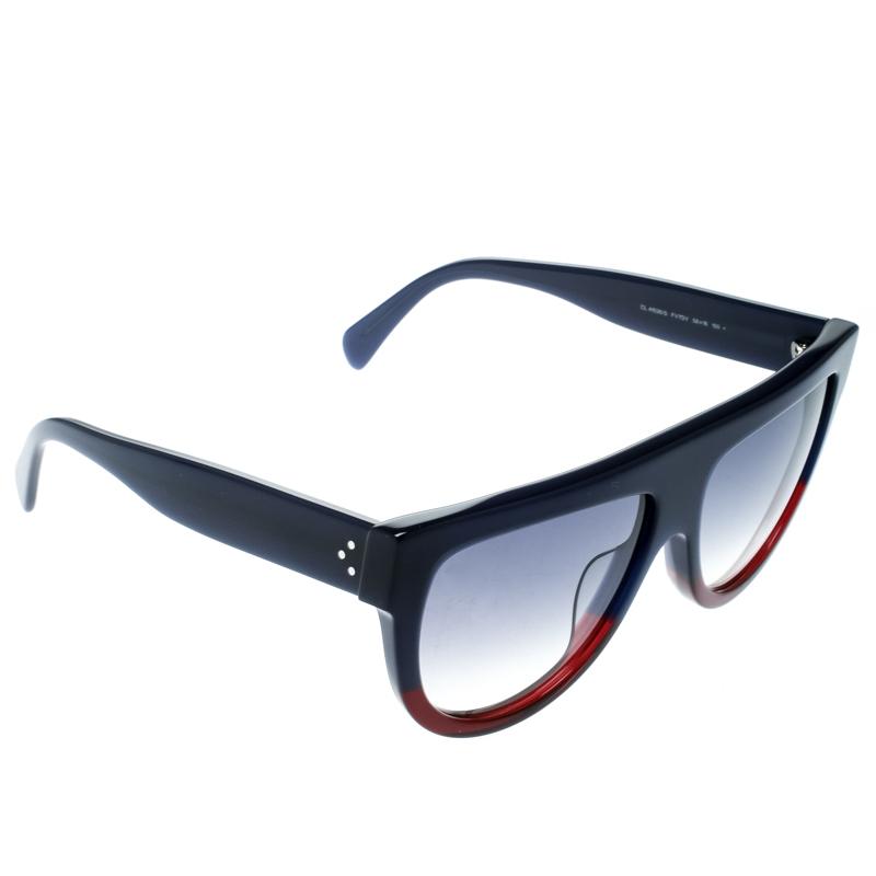 7351b4ec1638 Buy Celine Blue Blue Gradient CL 41026 S Aviator Sunglasses 176852 ...