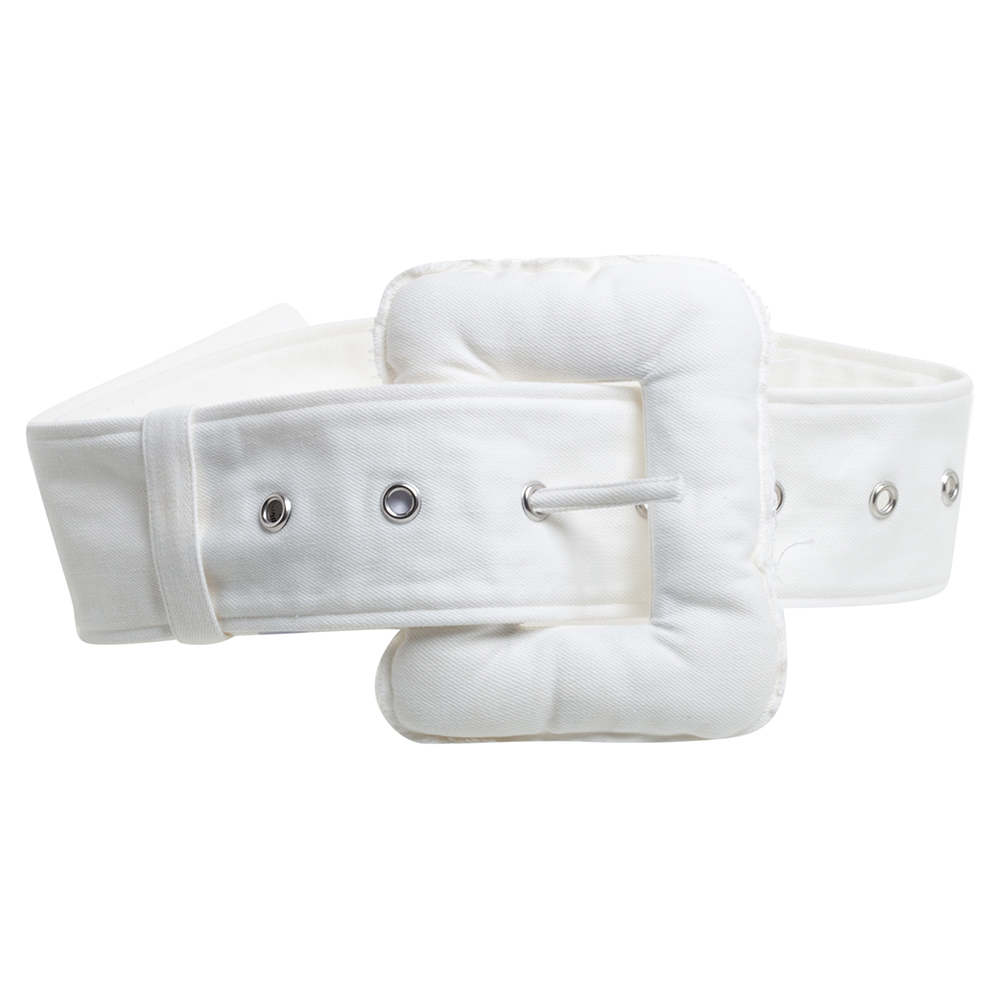 Céline White Denim Oversized Belt S