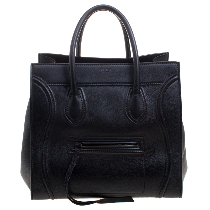 fd1b2e44a3d7 ... Celine Black Leather Medium Phantom Luggage Tote. nextprev. prevnext