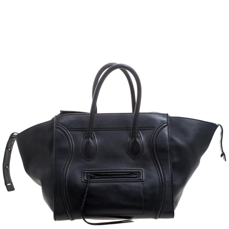 9a718a1f36cc ... Celine Black Leather Medium Phantom Luggage Tote. nextprev. prevnext