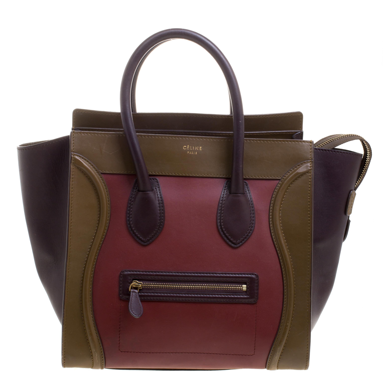 68af5e4d28 Buy Celine Tri Color Leather Mini Luggage Tote 110832 at best price ...
