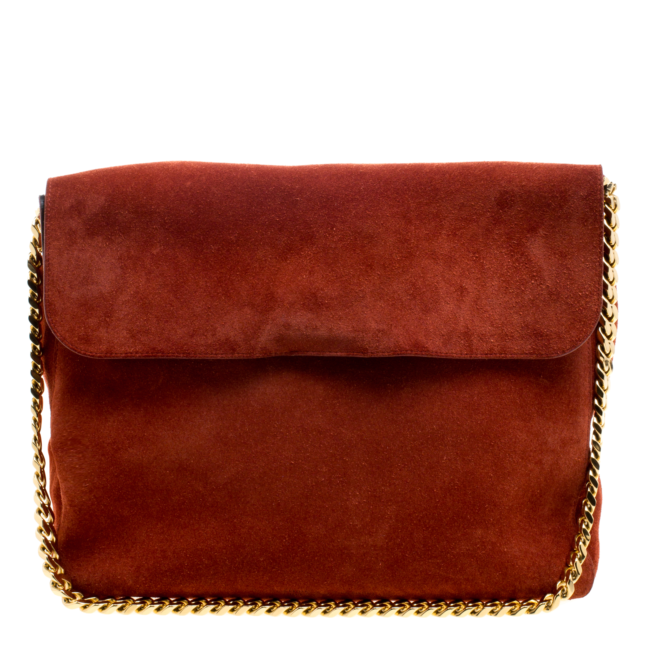 Buy Celine Red Suede Gourmette Shoulder Bag 117403 at best price  b05a10fea0e15