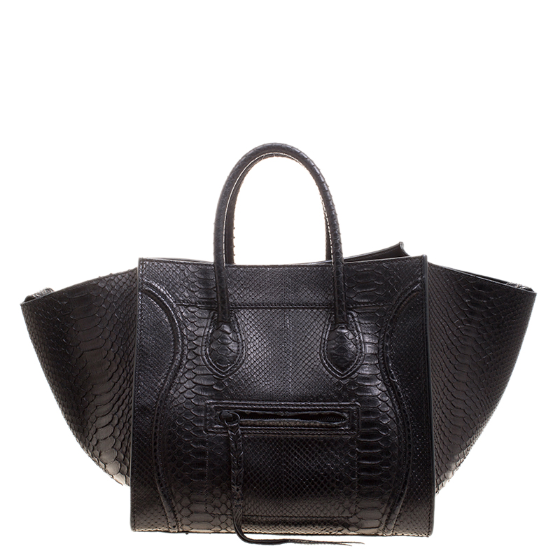 58437e8f4cfc ... Celine Black Python Medium Phantom Luggage Tote. nextprev. prevnext