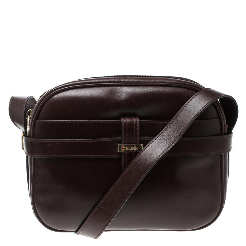 ... Celine Dark Burgundy Leather Vintage Crossbody Bag. nextprev. prevnext 59e57f1848189