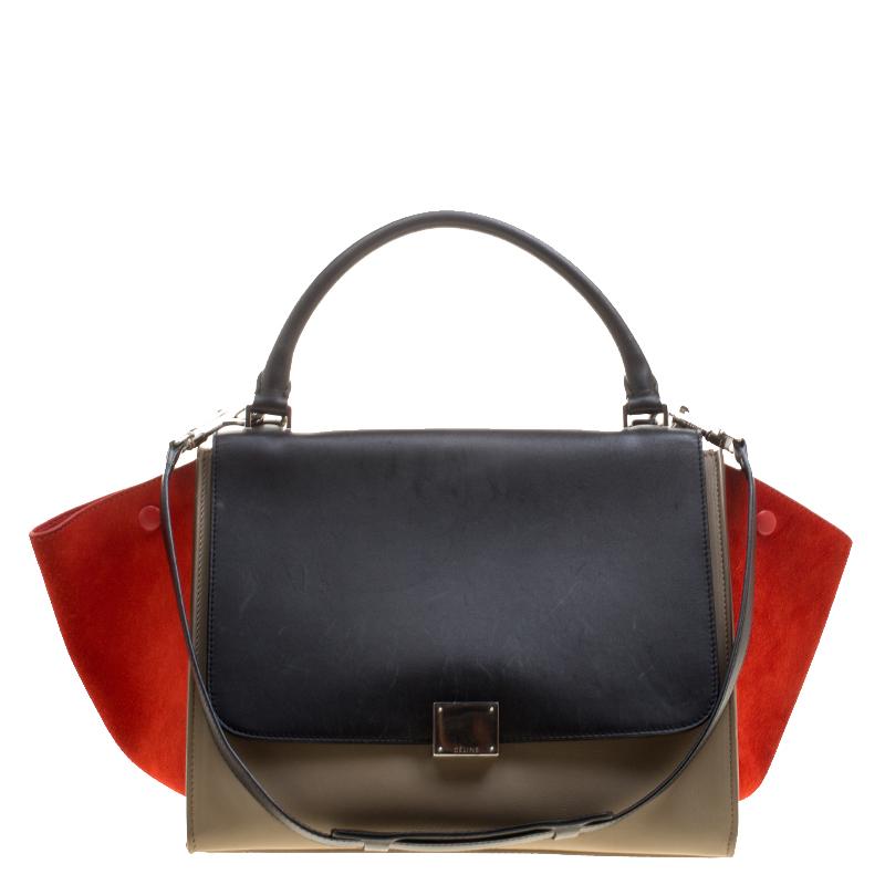 84f553fddd29 ... Celine Tri Color Leather and Suede Medium Trapeze Bag. nextprev.  prevnext