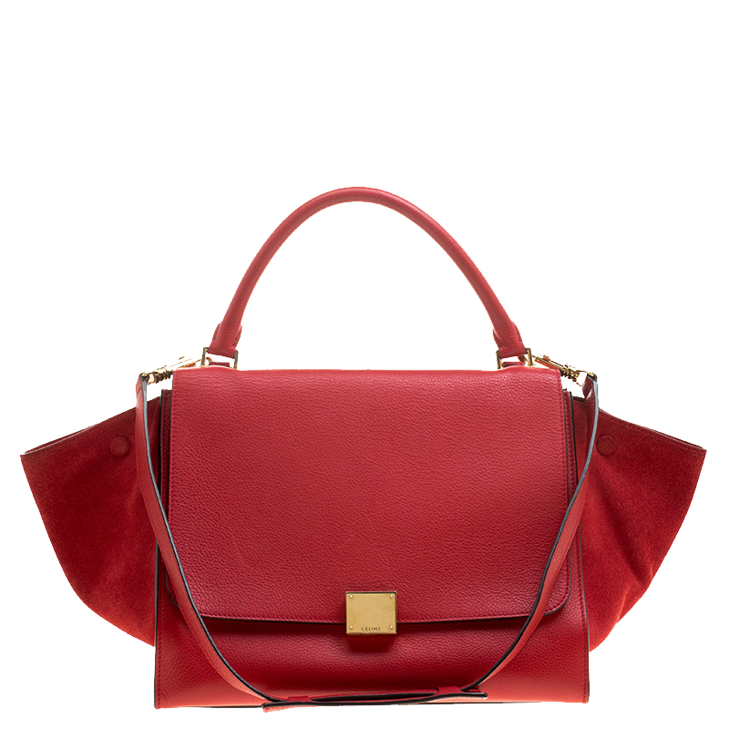 ... Celine Red Leather and Suede Medium Trapeze Bag. nextprev. prevnext 5eaa6ae490478