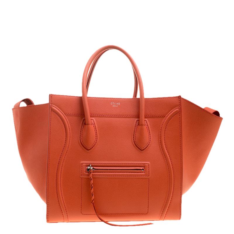 a24fdd24b467 ... Celine Orange Leather Medium Phantom Luggage Tote. nextprev. prevnext