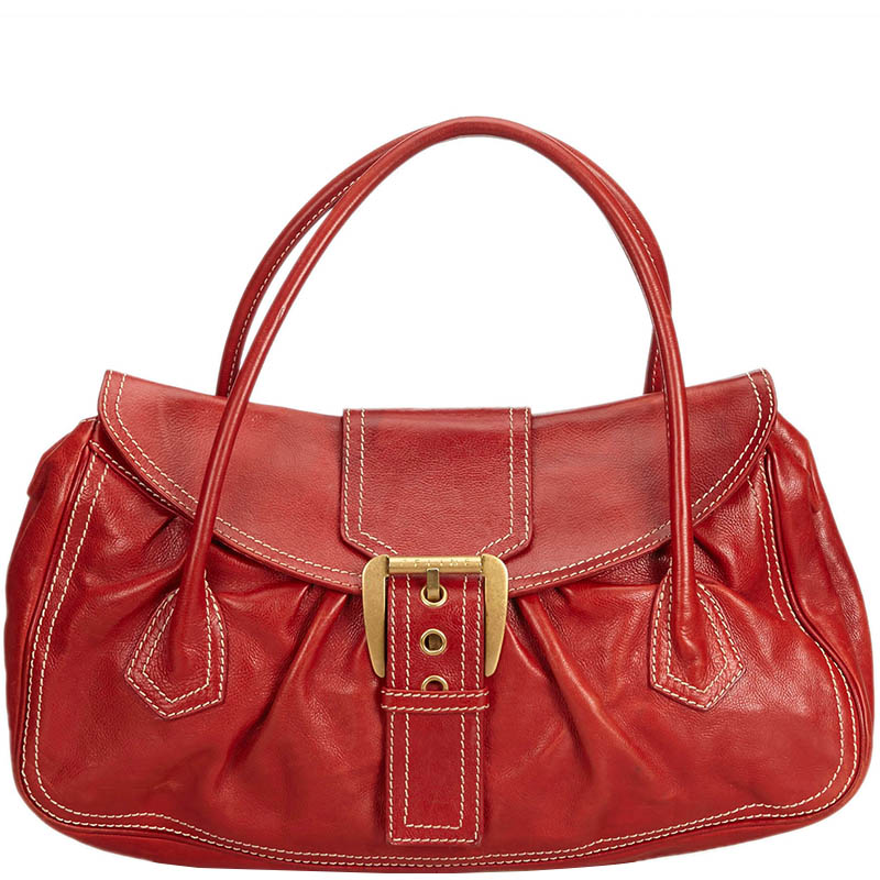0e9880d0111 Celine Red Leather Everyday Bag