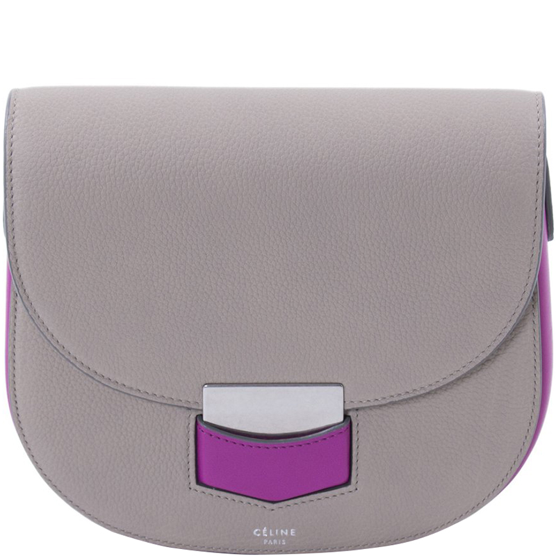 b8ffc9ad3888 ... Celine Two Tone Grained Leather Small Trotteur Crossbody Bag. nextprev.  prevnext