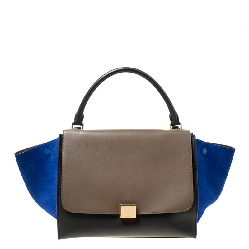 d6485a5a89 ... Celine Tri Color Leather and Suede Medium Trapeze Bag. nextprev.  prevnext