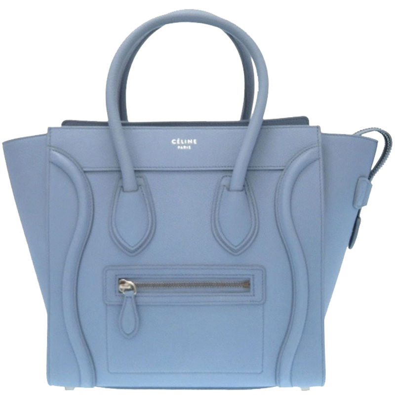 3966e55f5f99 Buy Celine Light Blue Leather Micro Luggage Tote 181054 at best ...
