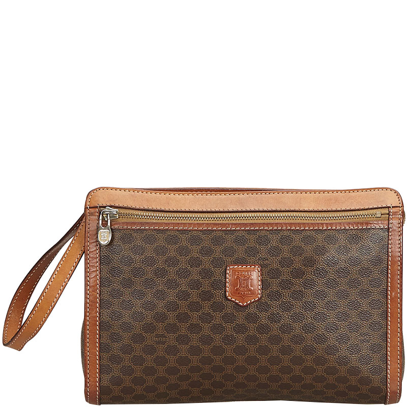 03beb5bc4124d Buy Celine Brown Macadam Clutch Bag 194801 at best price | TLC