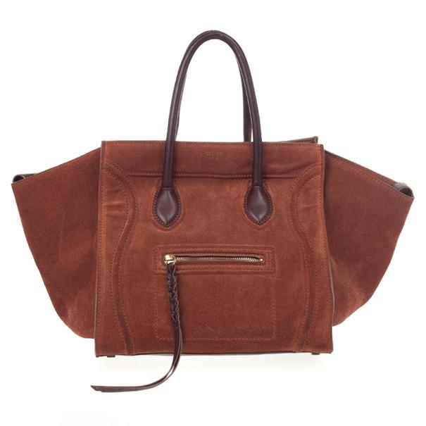 Celine Suede Orange Phantom Small Bag