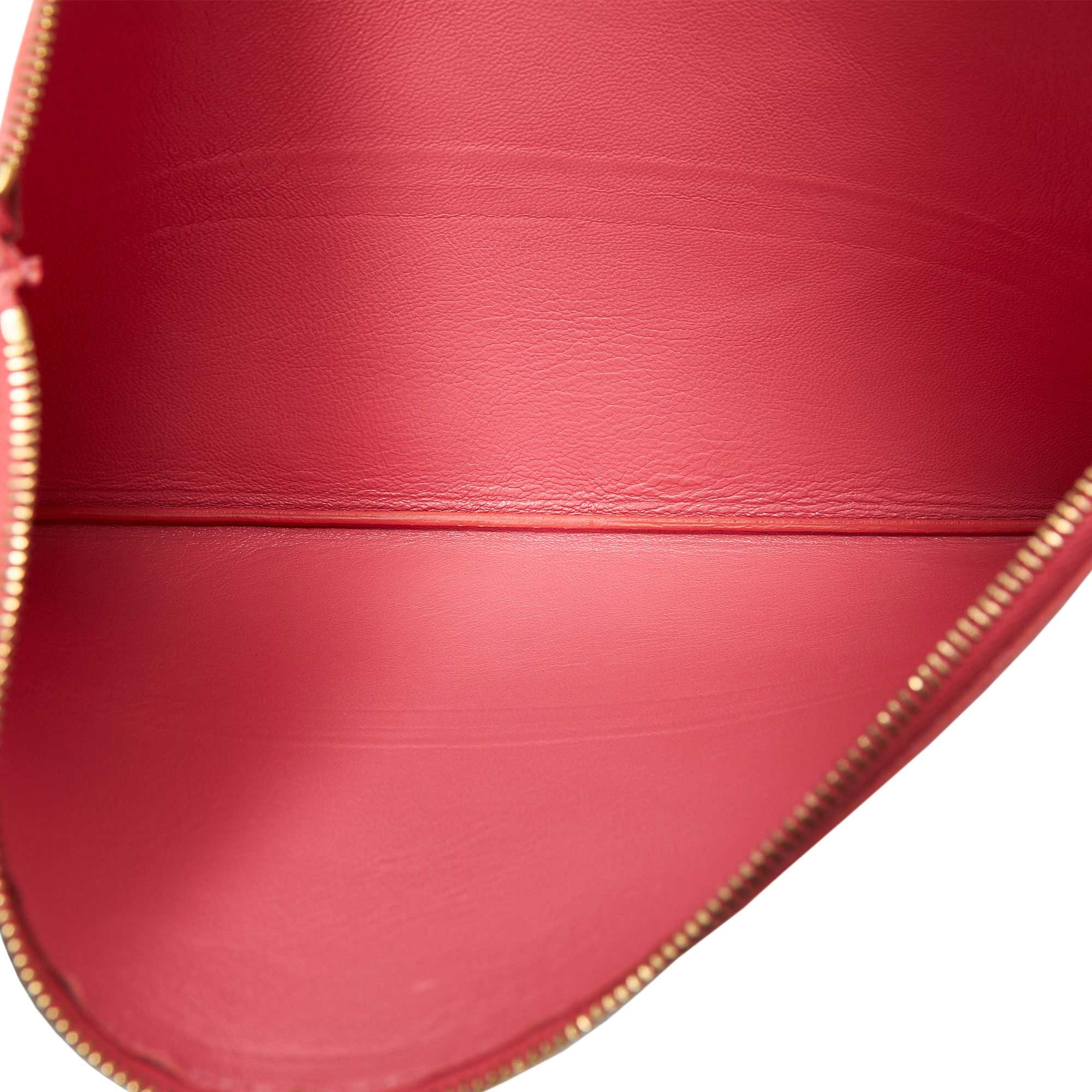 Celine Bicolor Leather Clutch Bag, Pink