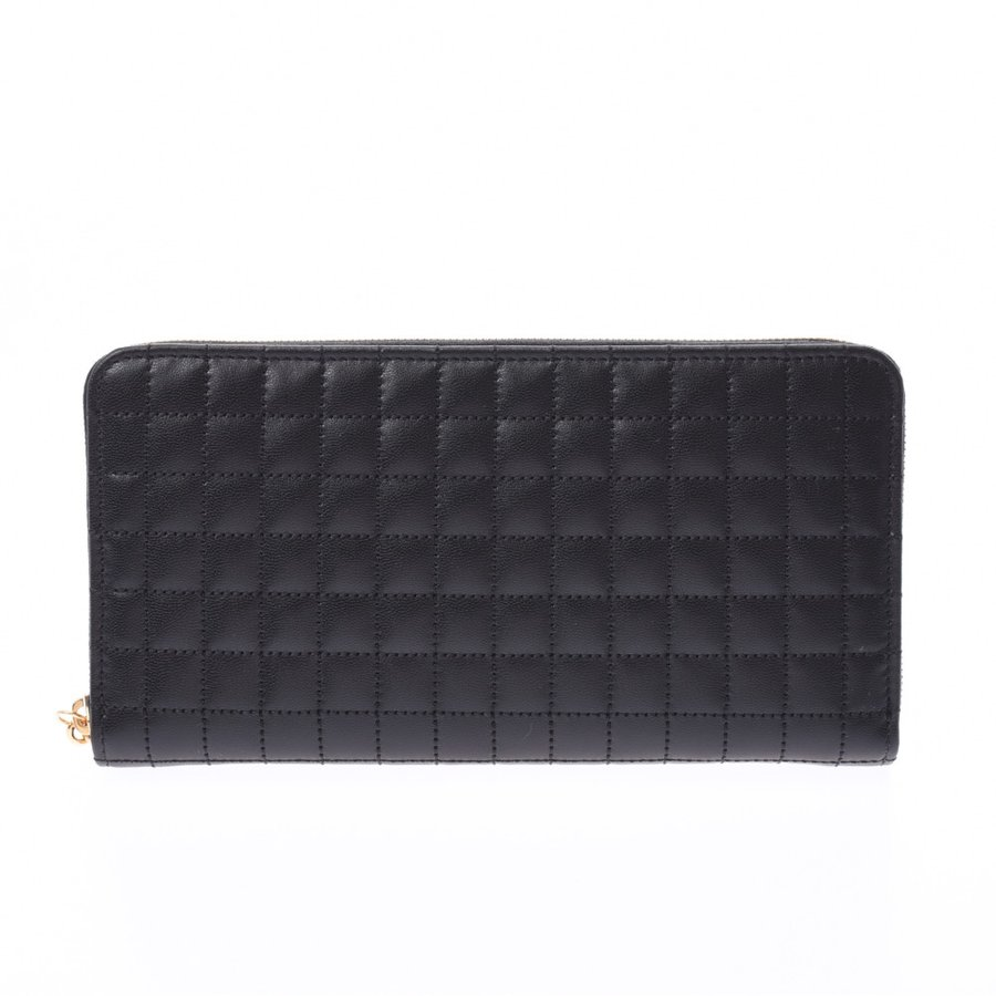 Pre-owned Celine Black Quilted Leather Wallet