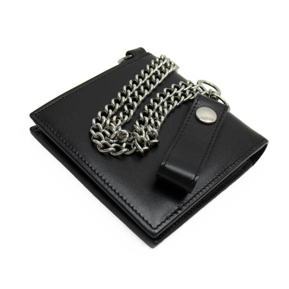 Pre-owned Celine Black Leather Chain Wallet