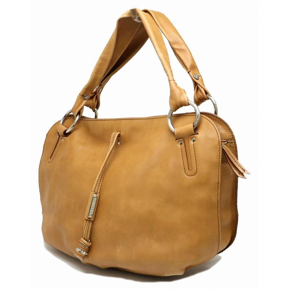 Pre-owned Celine Yellow Leather Bittersweet Hobo Bag In Brown