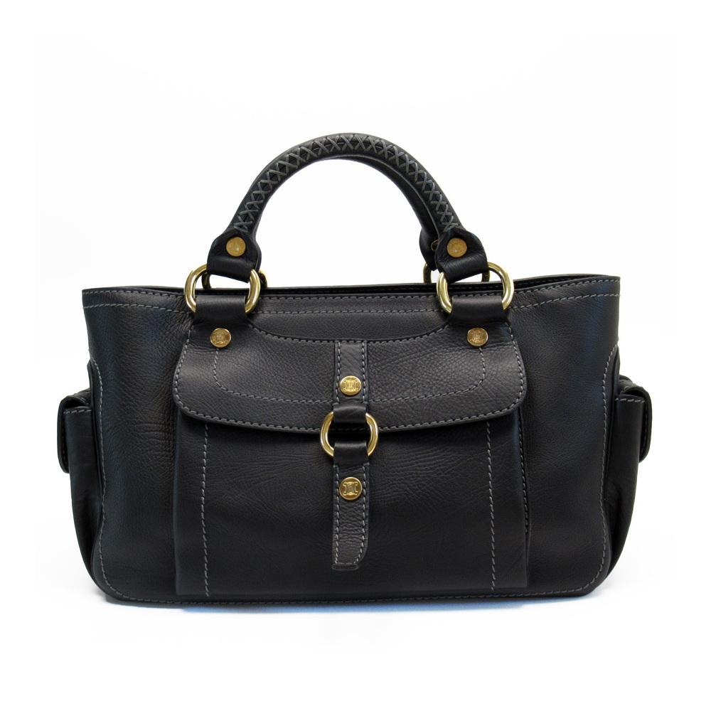 Pre-owned Celine Black Leather Satchel Bag