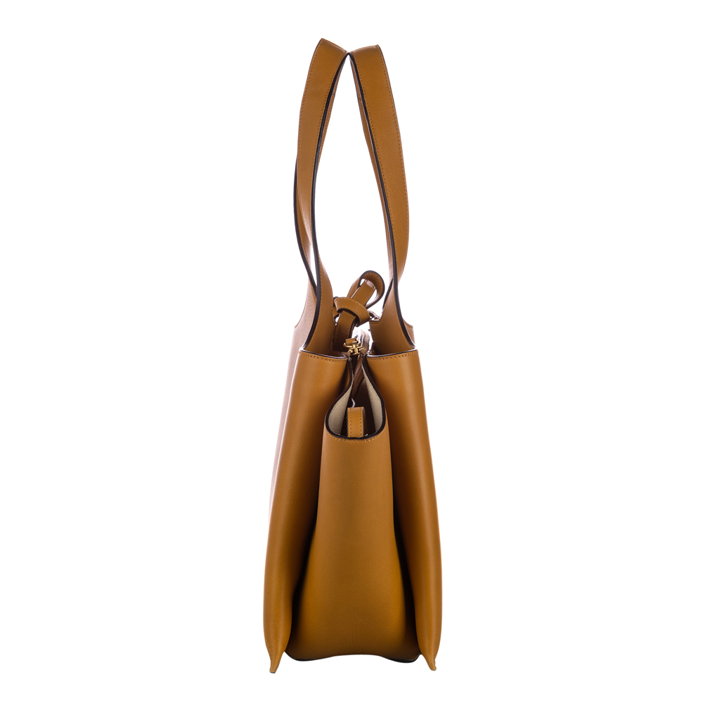 Celine Brown Leather Medium Trifold Bag
