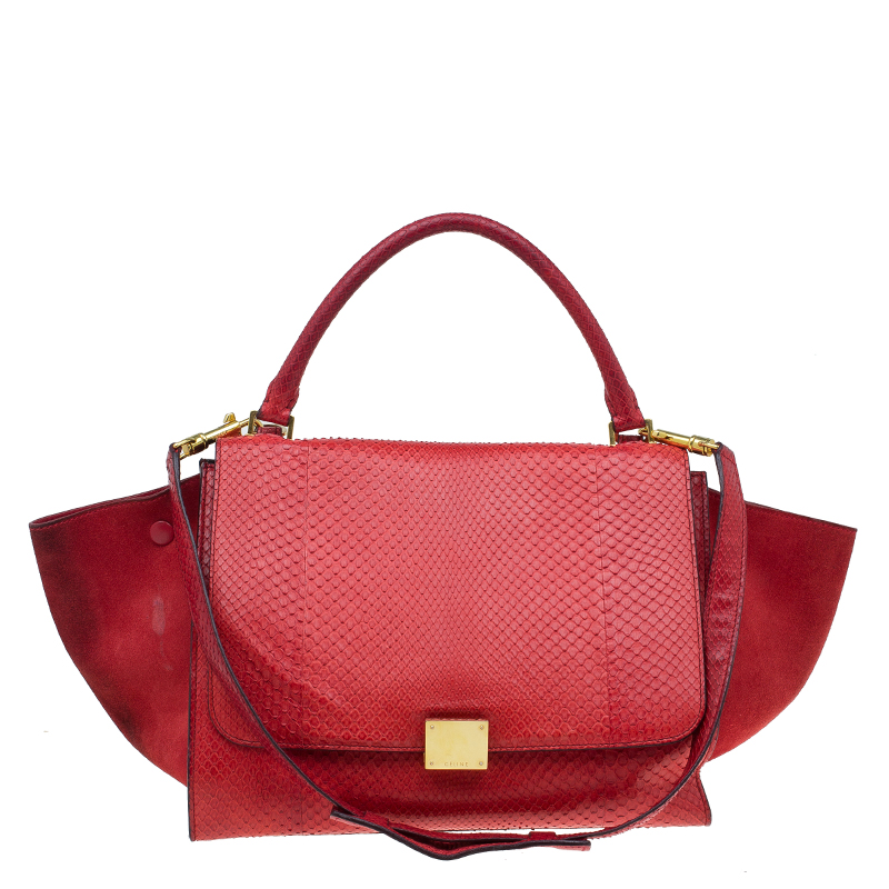 ... Celine Red Python and Suede Medium Trapeze Bag. nextprev. prevnext 80c6def161d01