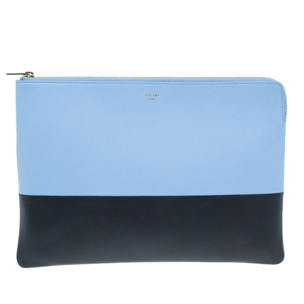 a9142f299961 Buy Celine Blue Leather Solo Clutch 5950 at best price