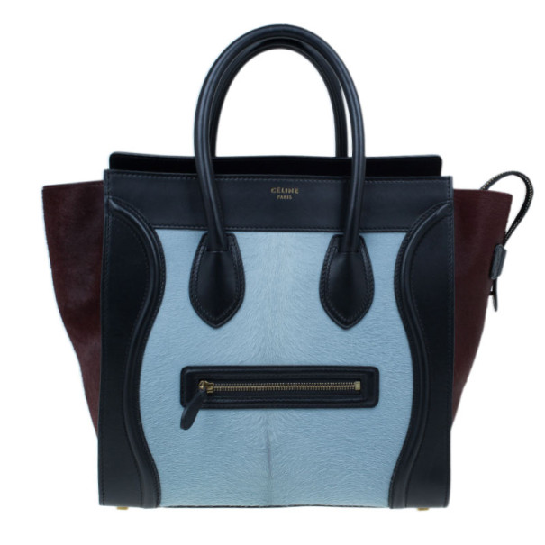 a7d2200aa8 Buy Celine Tricolor Pony Hair Mini Luggage Tote 5998 at best price