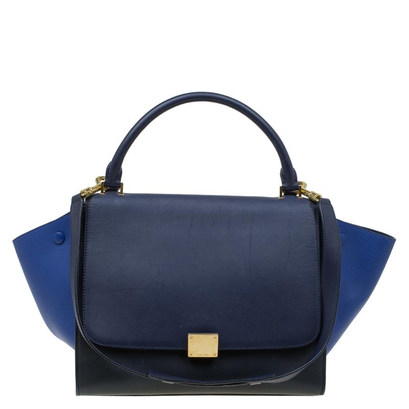 1ec158118d4e Buy Celine Tri Color Leather Medium Trapeze Bag 84804 at best price ...