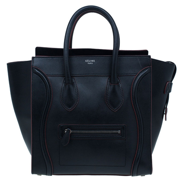 9f9a7d7fc286 ... Celine Black and Red Trim Leather Mini Luggage Tote. nextprev. prevnext