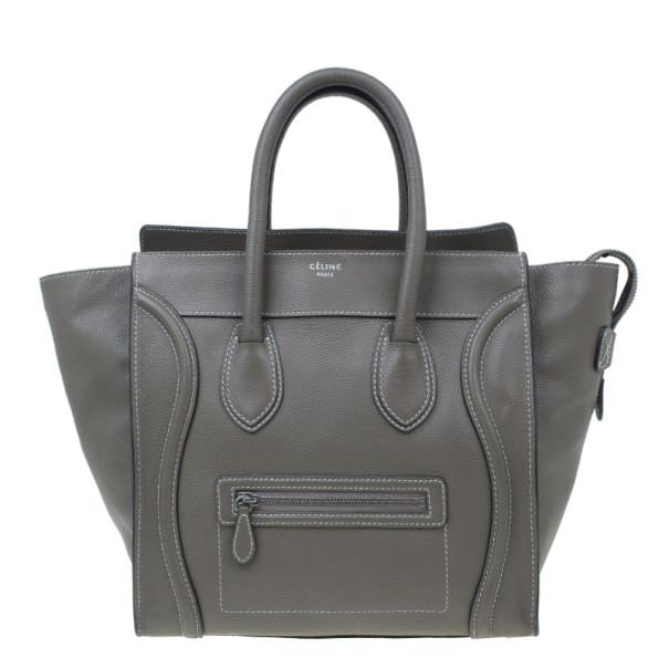 52015b3b4d ... Celine Elephant Grey Leather Mini Luggage Tote. nextprev. prevnext