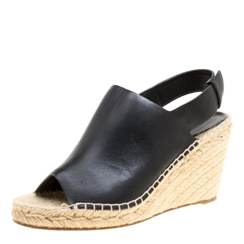 9ceb827aef7 ... Celine Black Leather Espadrilles Wedge Sandals Size 39. nextprev.  prevnext