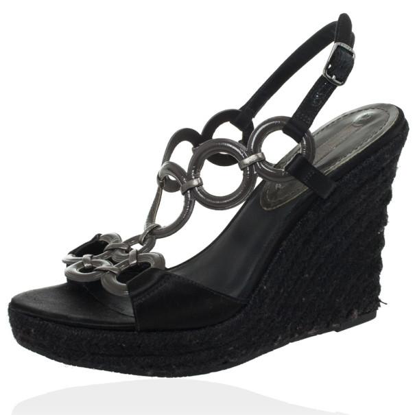 1b521ffa3b8 ... Celine Black Espadrilles Wedges Sandals Size 38. nextprev. prevnext
