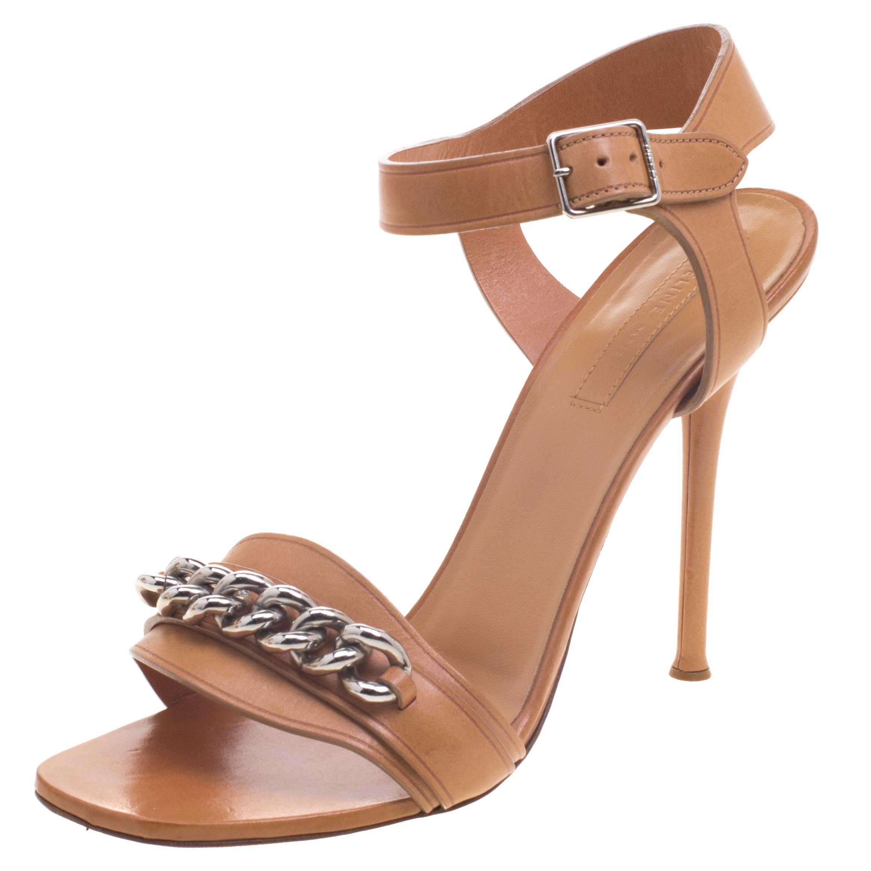 ... Leather Chain Detail Ankle Strap Sandals Size 40. nextprev. prevnext