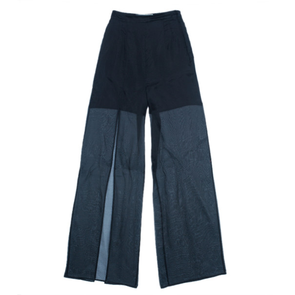 Chalayan Silk Split Wide Leg Pants S