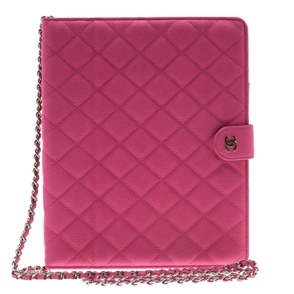 96f73387423b Buy Chanel Pink Quilted Leather Crossbody iPad Case 11188 at best price