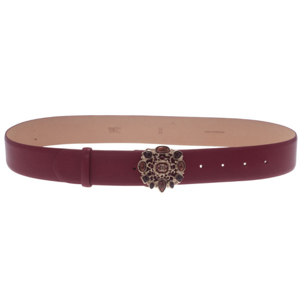 Buy Chanel Red Leather Resin Buckle Belt 85CM 8860 at best price  635a1825cf
