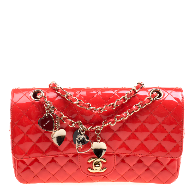 a591694b97d3 ... Flap Bag Nextprev Prevnext. Chanel Neon Red Quilted Patent Leather  Medium Limited Edition