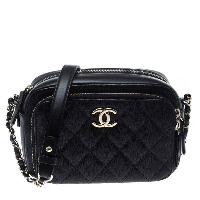aaf32414d6a481 ... Chanel Black Quilted Leather Business Affinity Camera Case Shoulder Bag.  nextprev. prevnext