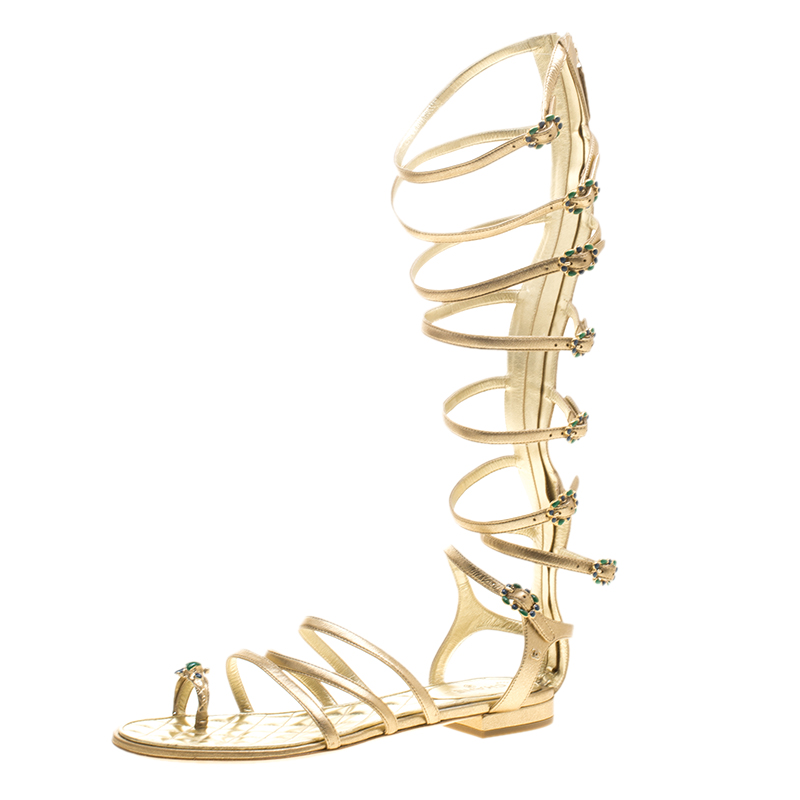 46e1880dcbe ... Chanel Gold Leather Gladiator Sandals Size 39. nextprev. prevnext