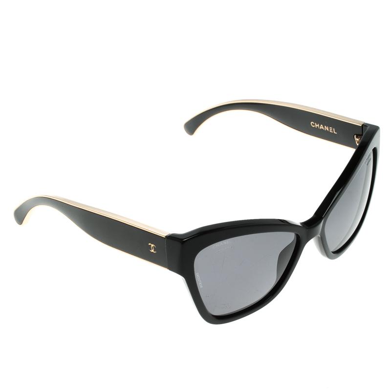 e8cfeb339 Buy Chanel Black 5271 622/T8 Cat Eye Sunglasses 132411 at best price ...