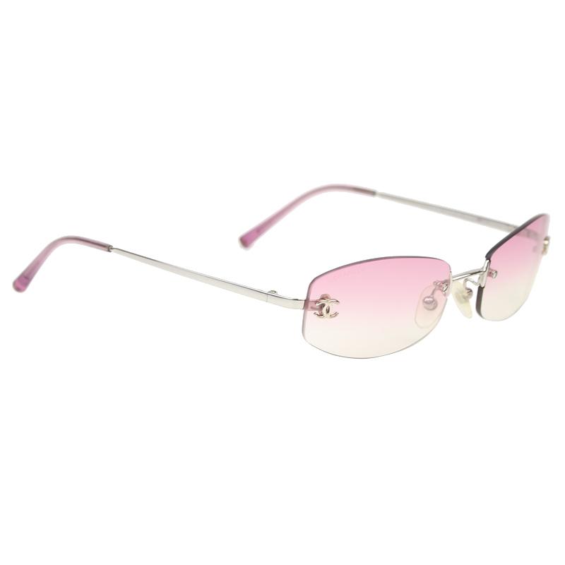 Chanel Pink Gradient Tint CC 4017-D Square Sunglasses